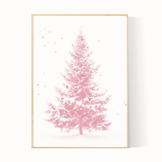 kerstboomposter-roze